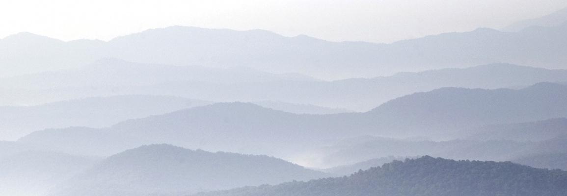 foggy mountainscape