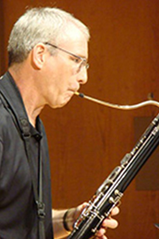 Dr. Jon Beebe playing bassoon