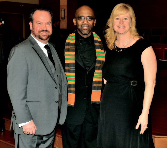Artistic and Executive Director Darren Dailey and Conductor Susanne Dailey (right) of the Jacksonville Children's Chorus with Music Director Dr. Tony McNeill