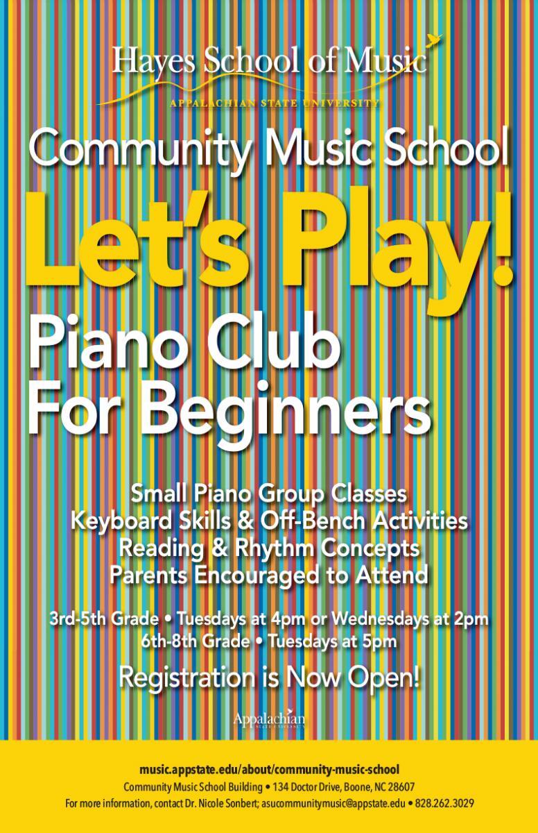 Piano Club flyer