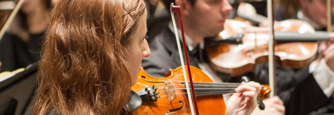 Hayes School of Music violinist