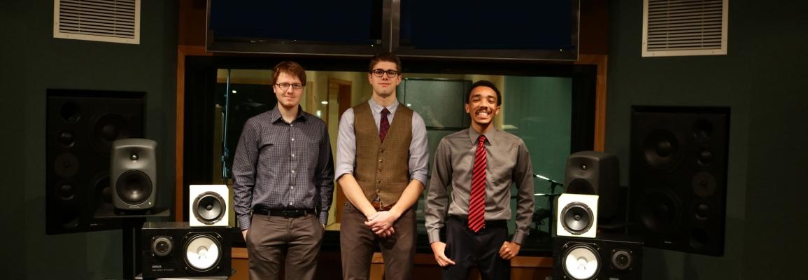 Jordan Bailey '15, Graham Sloboda '17 and Adam Campbell '18