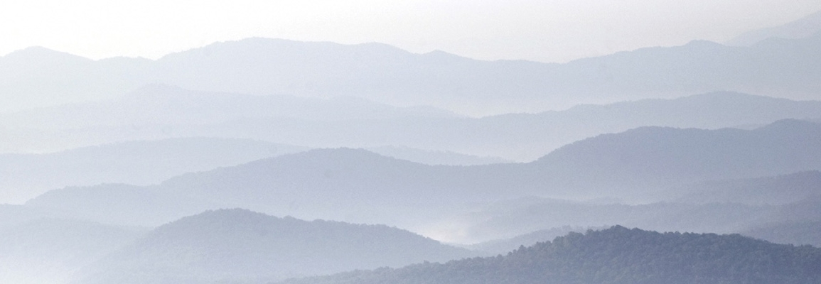 foggy mountainscape