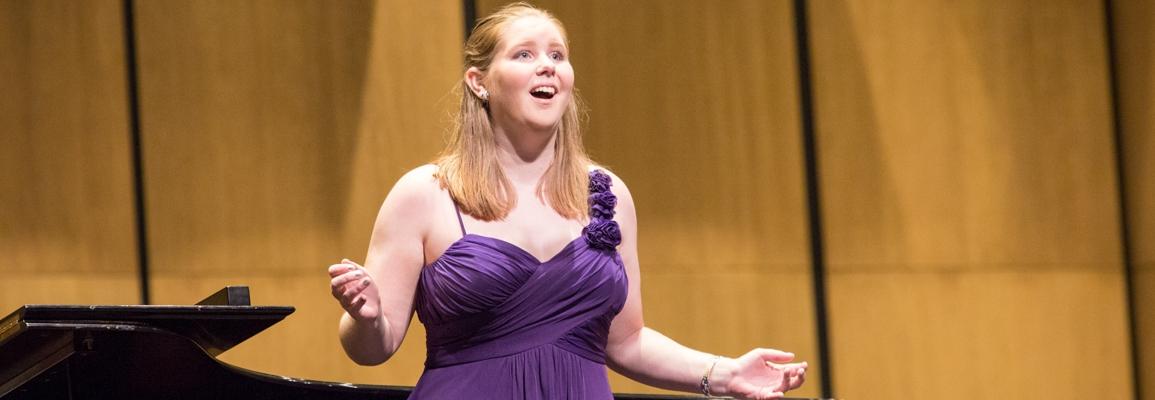 female solo opera performance
