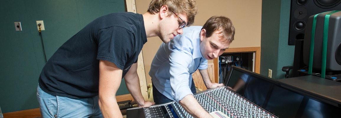 Hayes School of Music Music Industry Studies students