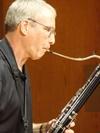 Dr. Jon Beebe playing bassoon