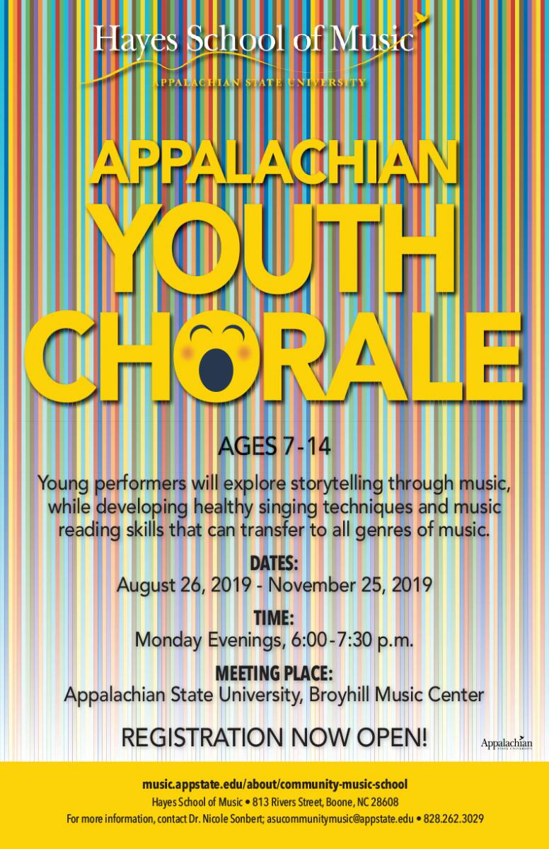 Appalachian Youth Chorale | Hayes School of Music